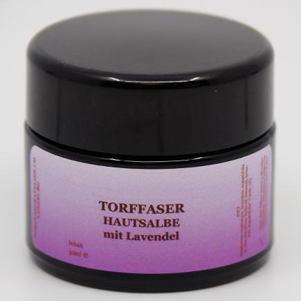 Torffaser-Hautsalbe mit Lavendel